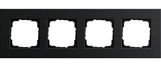 Gira 0214126 Рамка установочная 4 поста Gira Esprit черный алюминий