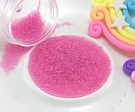 (Цена за 20 грамм) Микробисер (бульонки) присыпка (размер ≈0.6мм)  Цвет - Розовый, фото 1