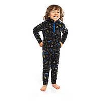 Флисовый костюм NANO для мальчика 2-12 лет (термобелье, кофта и штаны) 89-146 см ТМ Nanö BUWP601-F19 Black/Ult, фото 1
