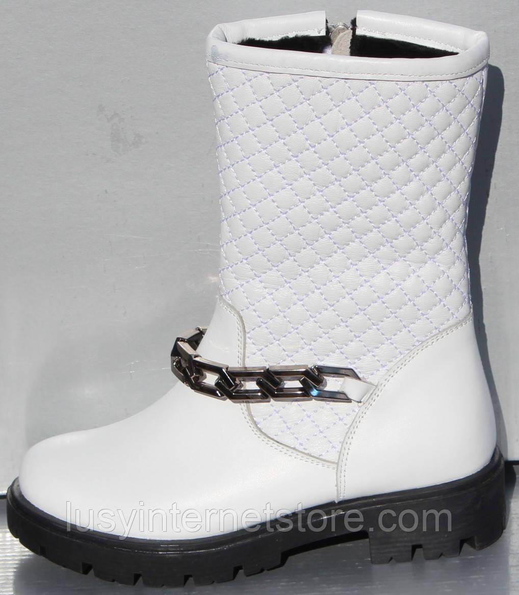 Сапоги белые зимние для девочки от производителя модель О-106