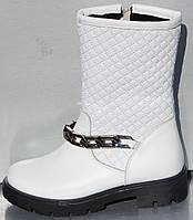 Сапоги белые зимние для девочки от производителя модель О-106, фото 1