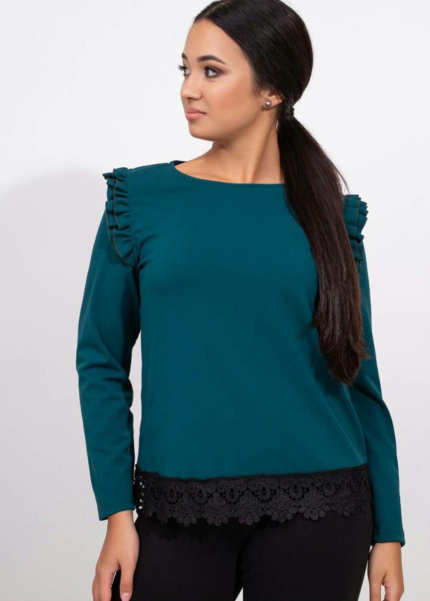Большая блузка с кружевом 50-56 (в расцветках)