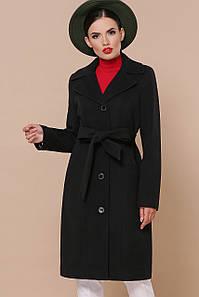 Женское демисезонное кашемировое черное пальто до колен Пальто П-316-100-К