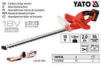 кусторез YATO Польша аккумуляторный Li-Ion 18В 2 А/ч l=56 см YATO YT-82832
