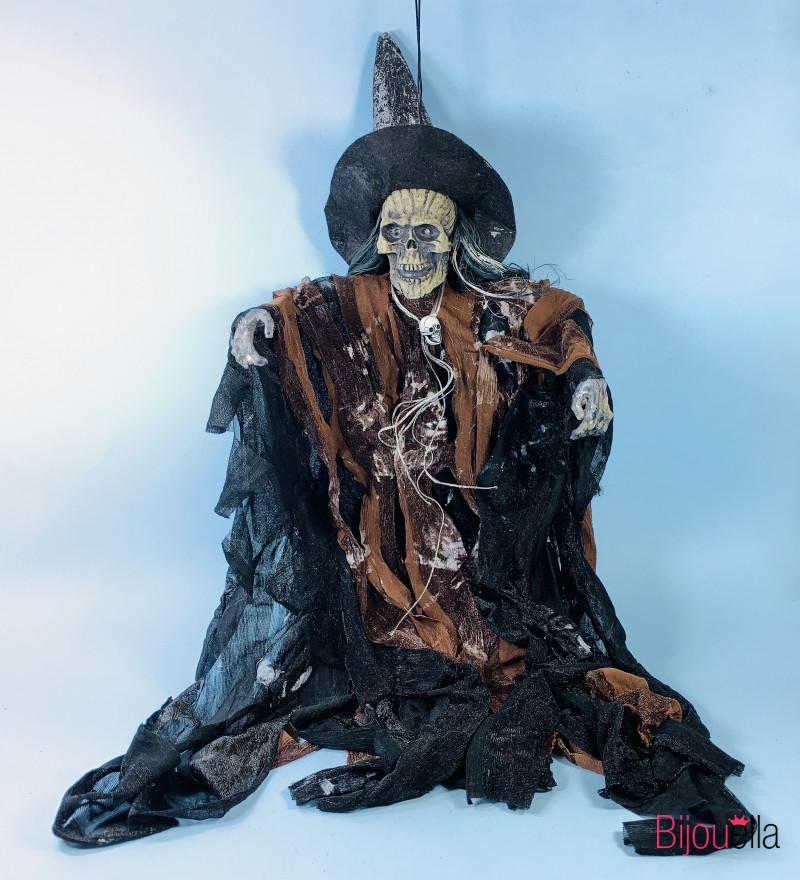 Ведьма в лохмотьях подвесная страшная кукла декор для Хеллоуина 60*30 см