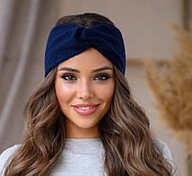 Стильная вязанная повязка на голову