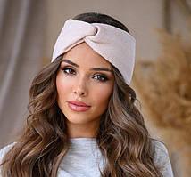 Красивая женская пудровая повязка