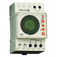 Таймер добовий Т20 цифровий 16А 230В з акумулятором на DIN-рейку ElectrO T20ЕА
