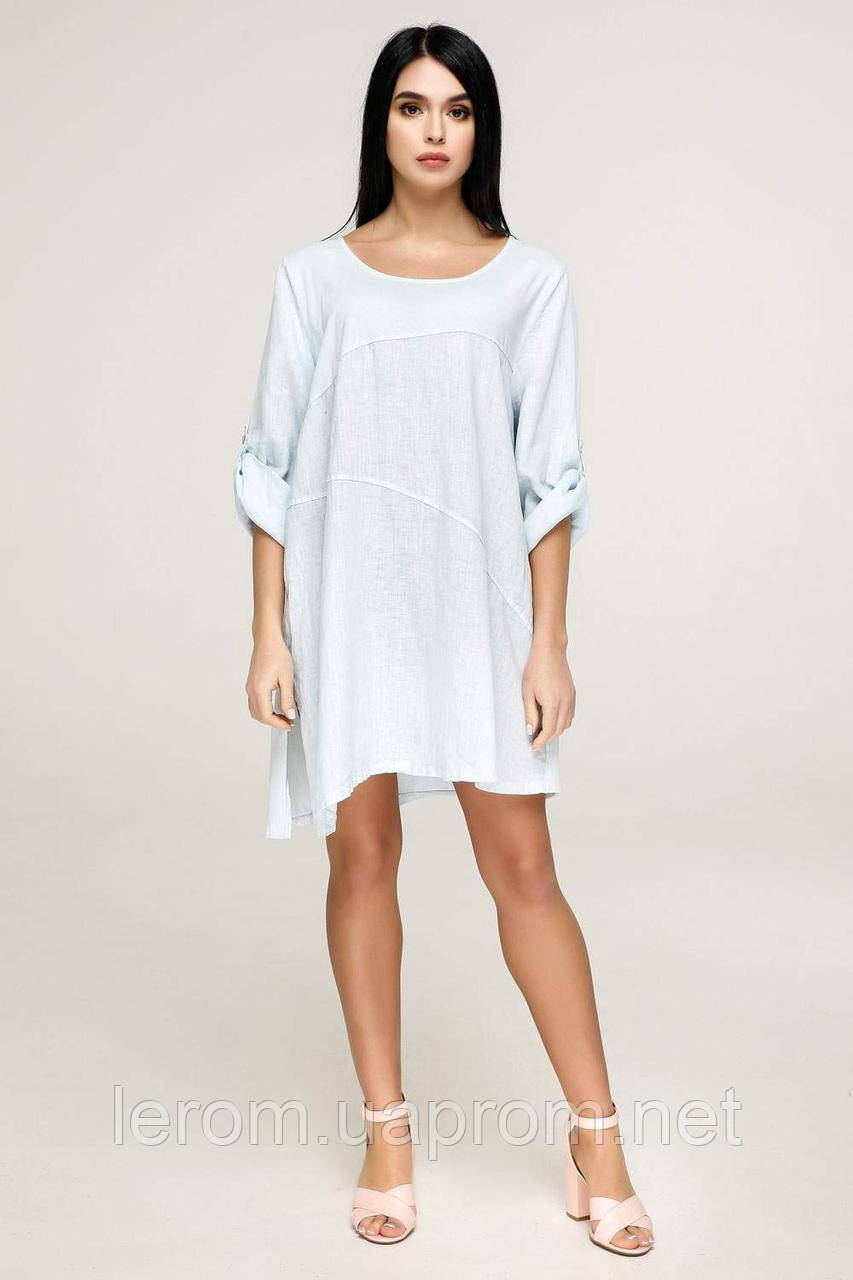 Платье Л-2024 Лен Тон 22