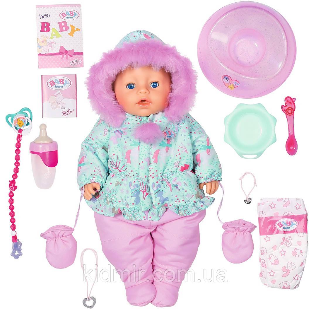 Беби Борн Кукла Зимняя Красавица Нежные объятия 43 см Baby Born Zapf 827529