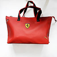 Спортивная сумка Puma Ferari  красная реплика, фото 1