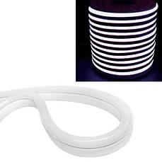 Гнучкий світлодіодний неон SMD 2835 120 / м IP68, 1м білий 220В