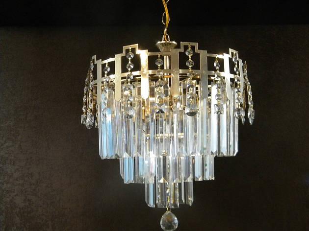 Люстры хрусталь 1737 на 4 лампочки Е27, фото 2