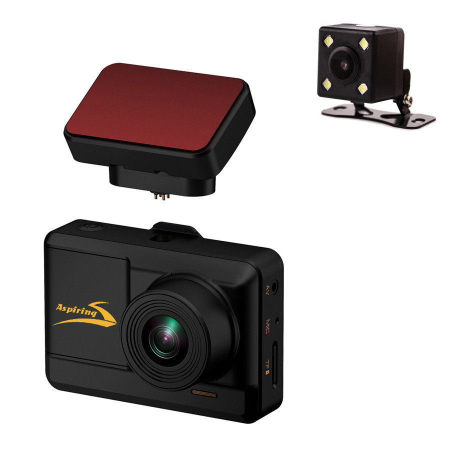 Видеорегистратор Aspiring Alibi 5 (2 Cam, Wi-Fi, GPS, Magnetic)