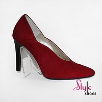 Женские красные туфли на шпильке, фото 1