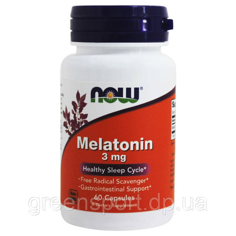 Мелатонин Now Foods Melatonin 3 мг (60 капсул)