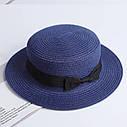Взрослая  шляпка соломенная темный беж, фото 6