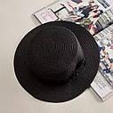Взрослая  шляпка соломенная темный беж, фото 9