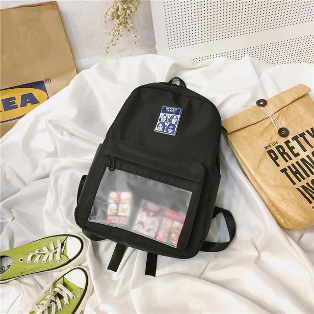 Однотонний рюкзак чорний