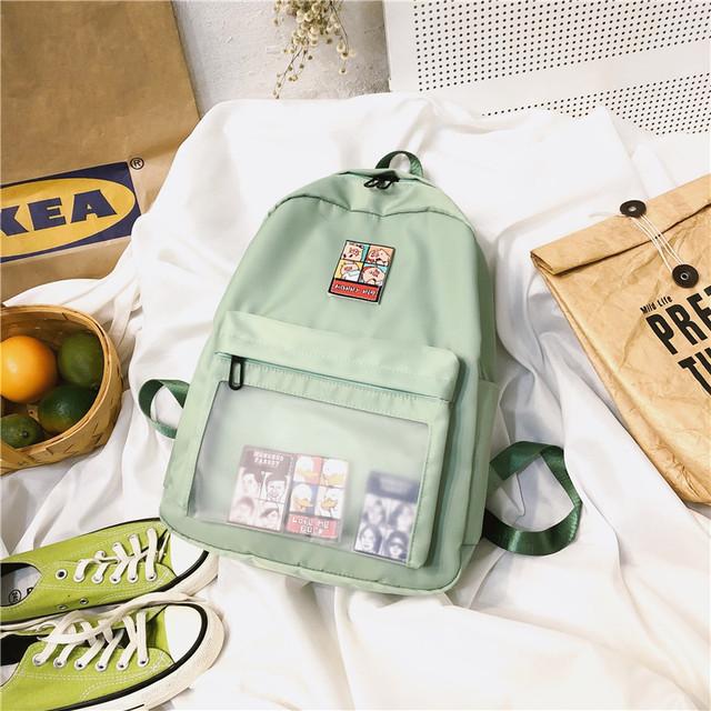 Зелений рюкзак з липучками