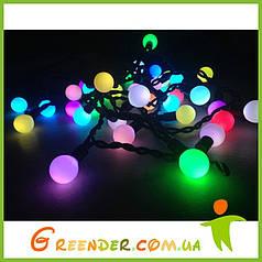 Гирлянды-шарики / Светодиодные гирлянды RGB STRING LIGHT на белом резиновом проводе 10 м