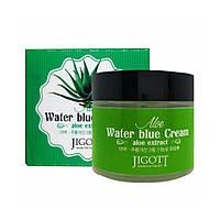 Крем успокаивающий с экстрактом алоэ Jigott Aloe Water Blue Cream 70 мл