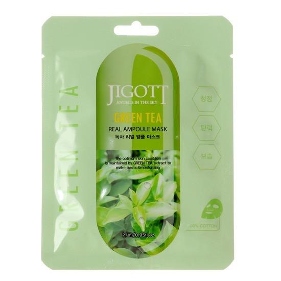 Маска тканевая ампульная с зеленым чаем Jigott Green Tea Real Ampoule Mask 27 мл