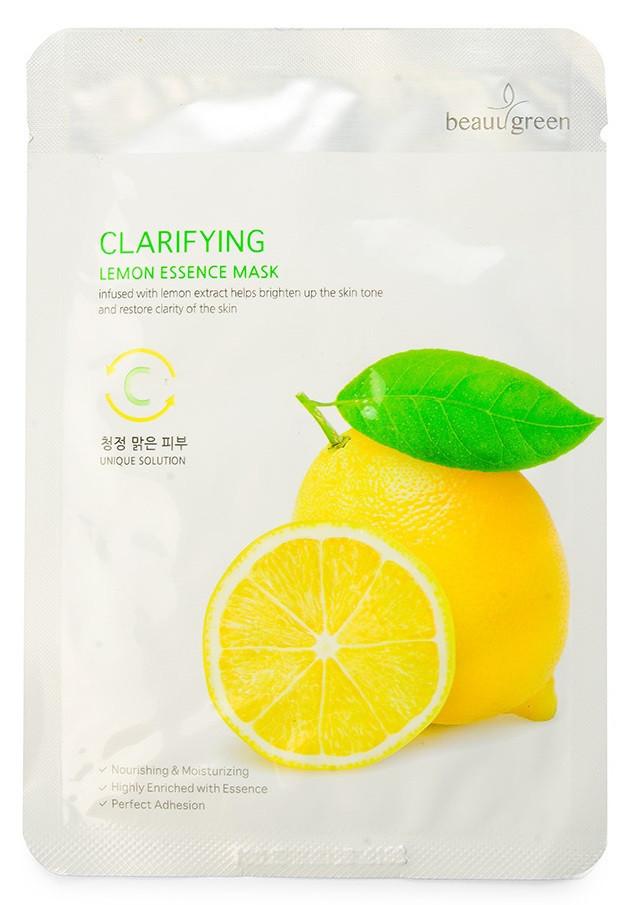 Маска тканевая с лимоном Beauugreen Premium Lemon Essence Mask 23 мл