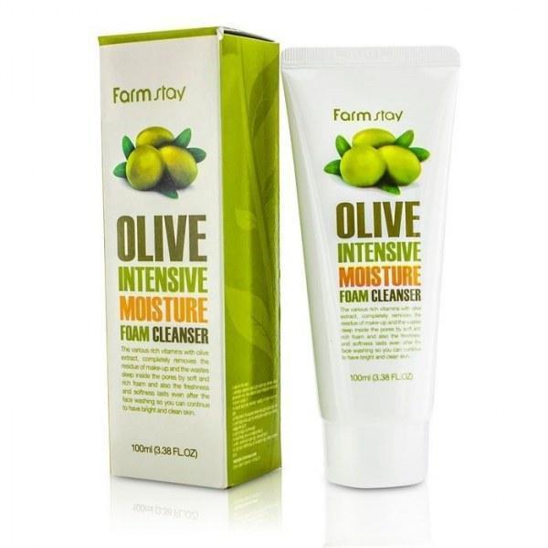 Пенка-крем для умывания олива Farmstay OLIVE INTENSIVE MOISTURE FOAM CLEANSER 100мл