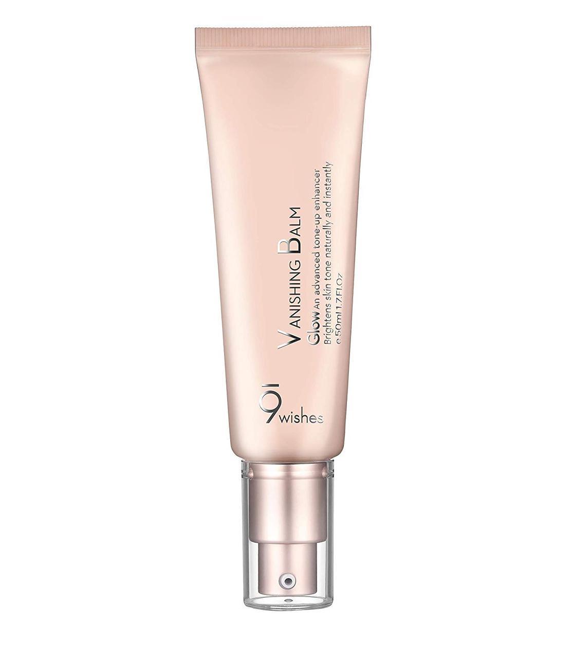 Бальзам-крем исчезающий восстанавливающий с эффектом мерцания 9 Wishes VB Glow Tone Up Cream 50 мл