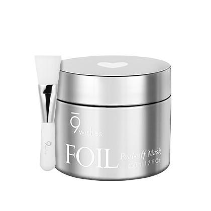 Маска-пленка для лица с эффектом фольги 9 Wishes Foil Peel-off Mask Silver 50 мл