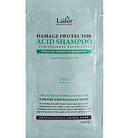 Пробник бесщелочного шампуня для поврежденных волос Lador Damage Protector Acid Shampoo 10 мл