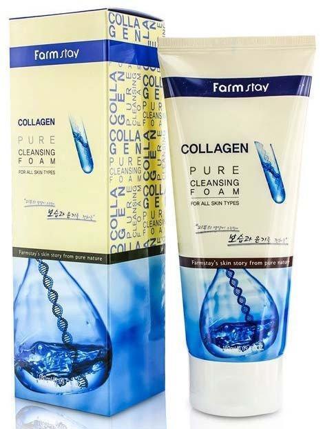 Пенка для умывания с коллагеном FarmStay Collagen Pure Cleansing Foam 180 мл