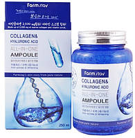 Сыворотка ампульная с коллагеном FarmStay Collagen & Hyaluronic Acid All-in-one Ampoule 250 мл