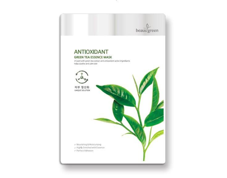 Маска тканевая c экстрактом зеленого чая BeauuGreen Green Tea Essence Mask 23 мл