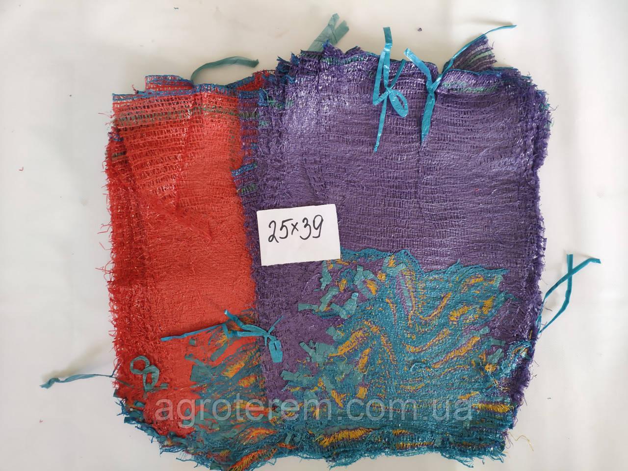 Сетка овощная 25х39  ( до 5кг ) красная, фиолетовая, оранжевая  с ручкой (сітка овочева,мішок)1000 шт