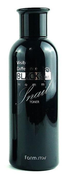 Тоник с муцином черной улитки FarmStay Visible Difference Black Snail Toner 200 мл