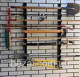 Полка металлическая  для садового инструмента на 12 ед., фото 2
