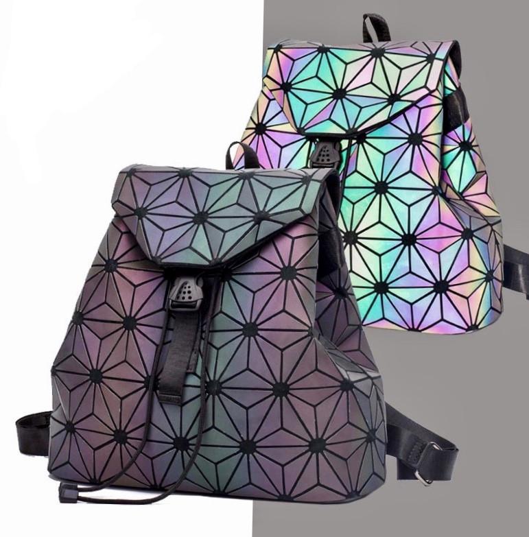 Эффектный женский рюкзак 20 л с клапаном Хамелеон в стиле Casual Бао Бао Жасмин, Bao Bao Issey Miyake 3004