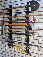 Полка металлическая  для садового инструмента на 6 ед., фото 1
