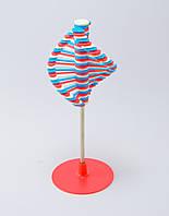 🔝 Игрушка антистресс Rainbow Lollipop, Сине-красно-белая, массажер для ладоней, крутилка антистресс | 🎁%🚚