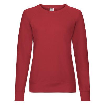 Демисезонный женский молодежный свитшот однотонный красный