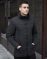 """Мужская зимняя не промокаемая теплая парка """"Pobedov CS 1.6"""" с капюшоном черная"""