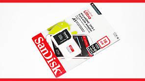 Съемное хранилище SanDisk Ultra microSDHC UHS I 16GB Class 10 Быстрая скорость передачи данных Код: КГ9479