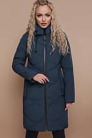 Женская темно-зеленая зимняя куртка до колен с капюшоном Куртка 819