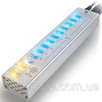 "USB-хаб Алюминиевый ""Smart"" 13-портовый (Black) USB-хаб Алюминиевый ""Smart"" 13-портовый (SILVER)"