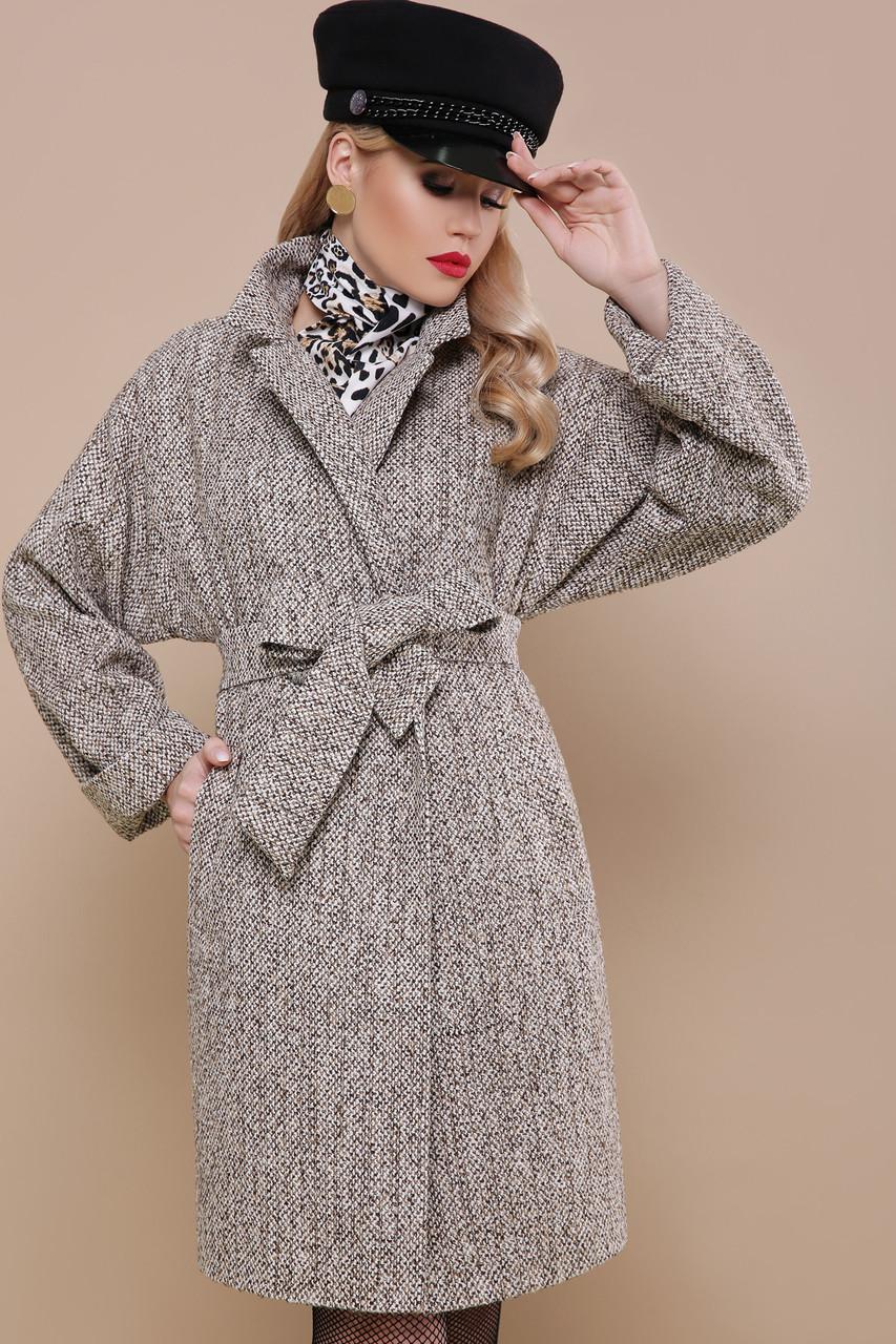 Женское универсальное корткое пальто с поясом Пальто П-300-90