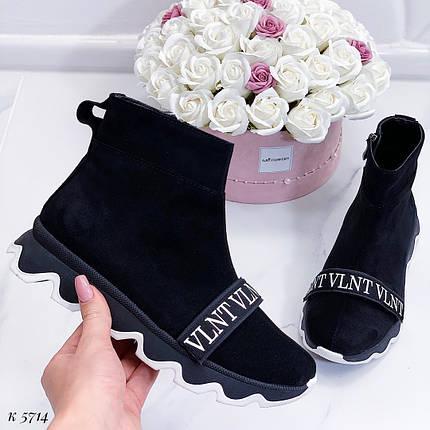 Ботинки женские осень на платформе, фото 2