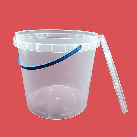 Ведро пластиковое с крышкой 1 л, фото 2