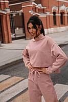 Спортивный костюм женский замшевый на дайвинге (мод. 268) Цвета: беж, пудра, чёрный, фото 1